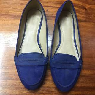 [ZARA] Blue Loafers