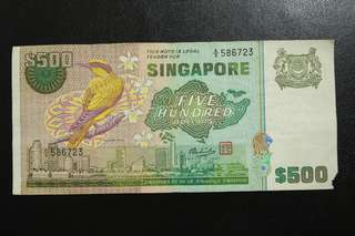 SG bird series $500 notes