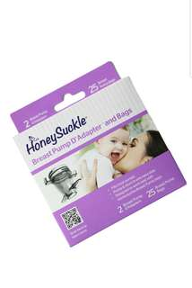 BN Honeysuckle Breast Pump D'Adapters and Bags