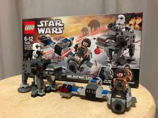 Lego Star Wars microfighters ski speeder and first order walker