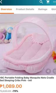 0-4months Portable Baby Mosquito Net Cradle Crib