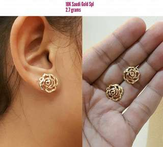 Pure gold earing