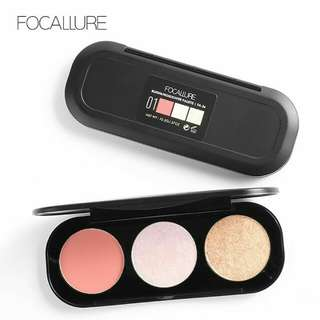 Blush on & highlite focallure