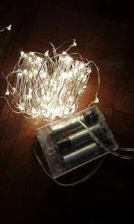 15m silver wire fairy light 100leds