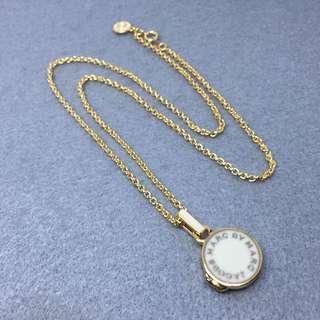 Marc Jacobs Sample Necklace 白色配金色盒子頸鏈 長54 cm