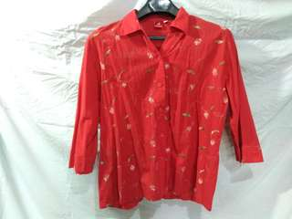 Red Floral Polo