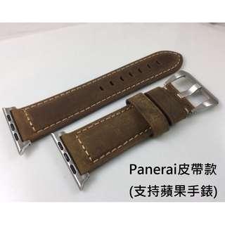 (熱賣款!!!) Apple Watch 錶帶 Panerai皮帶款 深啡 38mm 42mm Apple Watch Leather Strap!!