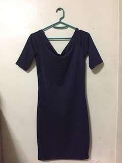 Navy blue bodyfit dress