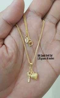 Pawnable 18k saudi gold necklace