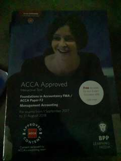 Acca Management Accounting Text and Workbook