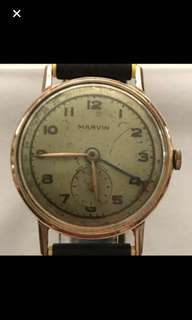 {Collectibles Item - Vintage Dress Watch} Rare Authentic Vintage Marvin Brand Non Magnetic Solid 14K Rose Gold Manual Winding Wrist Watch 184-3 3 ADJS 15 ref 223267 Made In Swiss