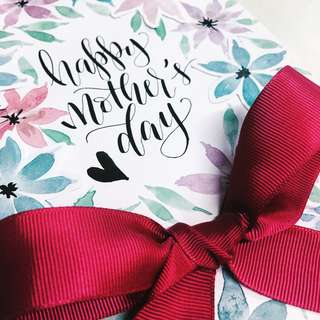 Floral card | Calligraphy