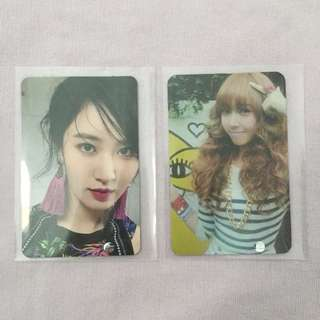 SNSD Yuri All Night & Jessica Oh! (Ph) Photocard