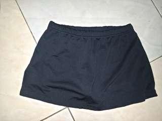 Black skirt with undershorts