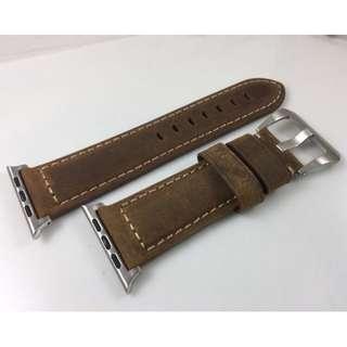 (熱賣款) Apple Watch 錶帶 Panerai皮帶款 深啡 38mm 42mm Apple Watch Leather Strap brown color