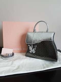 "Authentic Mingray ""Python leather"" bag"