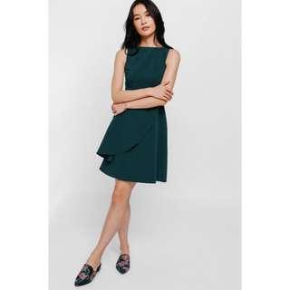 Wrylene Asymmetrical Cascade Layer Dress