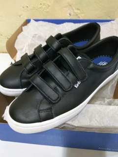 Keds tiebreak leather black