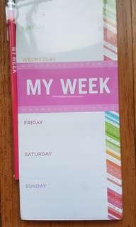 Galison New York Weekly Planner Magnetic Pad