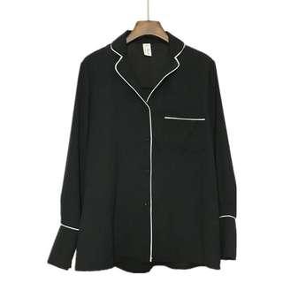 🚚 全新有吊牌 韓國時尚氣質襯衫 寬鬆慵懶風
