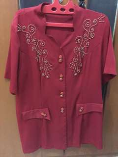 NEW - Red Blouse Rop