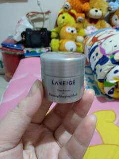 Laneige time freeze firming sleeping mask trial kit