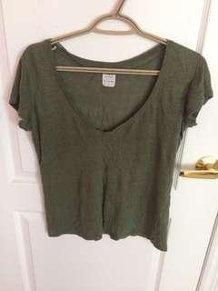 Zara Olive Green Tshirt
