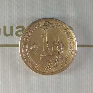 美國第14任總統Franklin纪念幣
