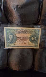 1941 10 cents old note.