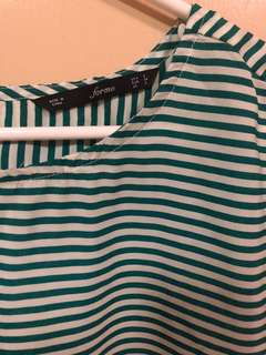 Forme striped green top