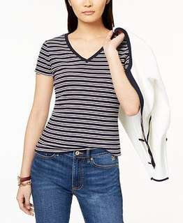 Cotton on v neck striped top