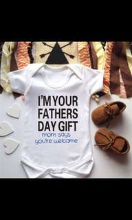 I'm your father's day gift romper