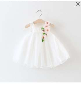 2 x Girls Flower Dress