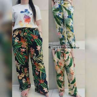 Tropical Printed Pants