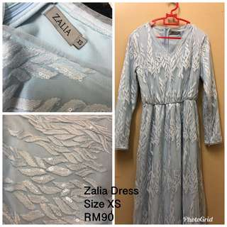 Zalia Dress Size XS Soft Blue
