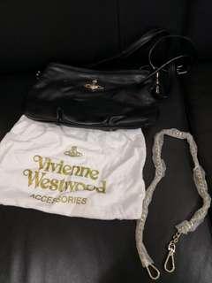 Vivienne Westwood 黑色手袋* 長帶*可選擇斜孭 *