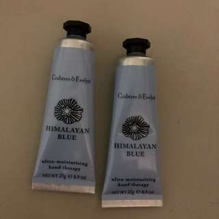 Brand new Crabtree & Evelyn hand cream therapy moisturizer 25g Himalayan blue