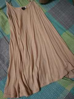 Nude Flowy Mini Dress / Nighties