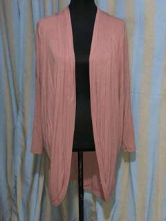 Forever 21 old rose long cardigan