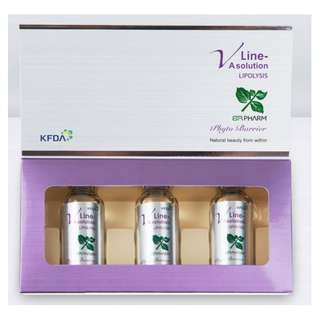 Original Korean Vline-A Solution for Body Slimming 30ml x3 ampoules