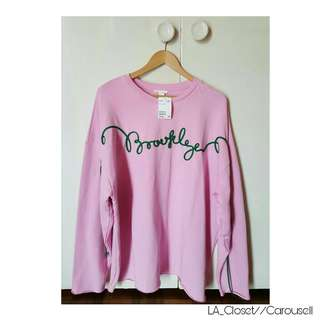 H&M Pink Brooklyn Oversized Sweater [BRAND NEW]