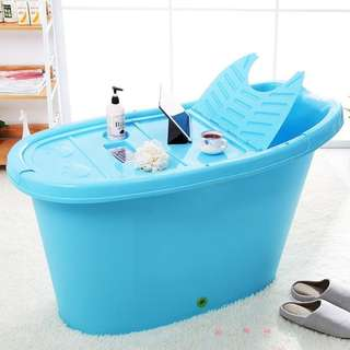 PORTABLE PLASTIC BATHTUB / HDB BATHTUB / SMALL SOAKING TUB / ADULT BATHTUB / RELAX / CHEAP