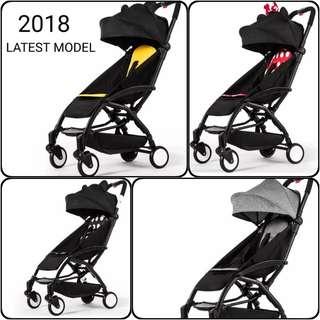2018 Latest Full Recline Baby Stroller Pram One Hand Fold