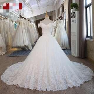 Po/Off Shoulder Wedding Dress