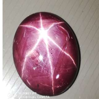 (VIDEO)29MM Length 72Cts Massive Size Natural Star Ruby w Treatment. Affordable. Good for Collection. Dancing Star(Asterism)Must See Video.!