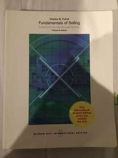 Fundamentals of Selling 13th Edition (Charles M. Futrell) Mc. Grawhill