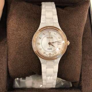 鑽石陶瓷腕錶鐵達時瑞士牌子❗️兩年保養包掉石