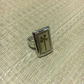 Vintage Four Leaf Lucky Clover Ring