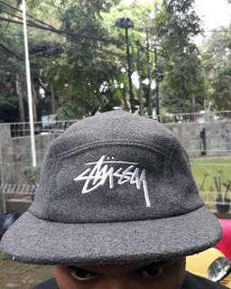 Stussy 5 Panel Cap Wool Grey