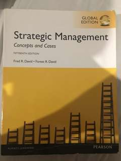 Strategic Management (Concept and Cases) 15th Ed. Fred R. David (Pearson)
